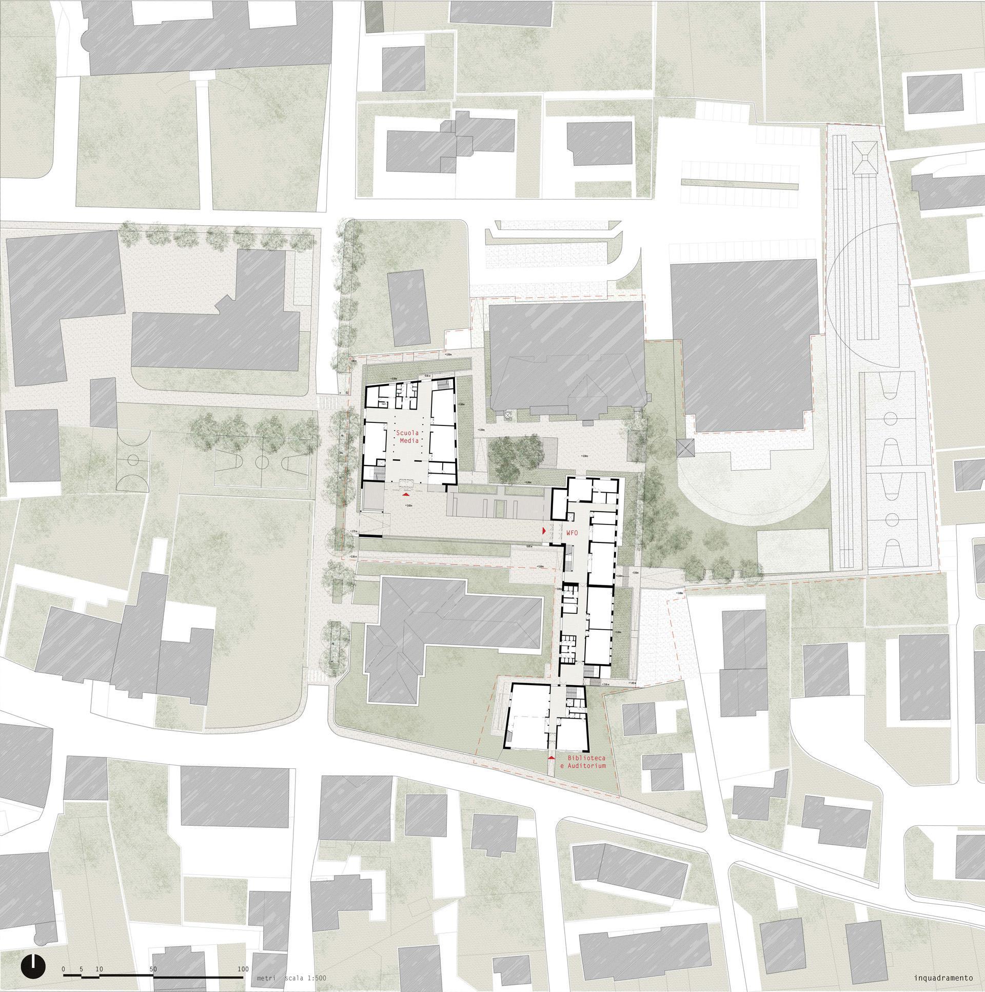 Planimetria generale del Polo scolastico di San Candido